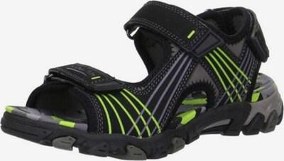 SUPERFIT Open schoenen in de kleur Donkergrijs / Neongroen / Zwart, Productweergave