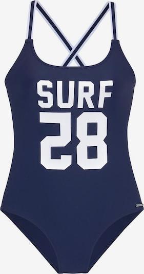 CHIEMSEE Badeanzug in navy / weiß, Produktansicht