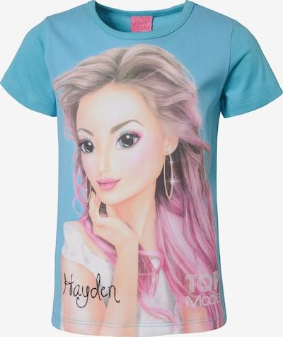 TOP MODEL Shirt in hellblau / mischfarben, Produktansicht