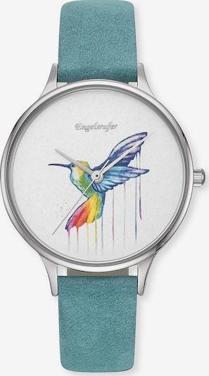 Engelsrufer Uhr in türkis / silber / weiß, Produktansicht