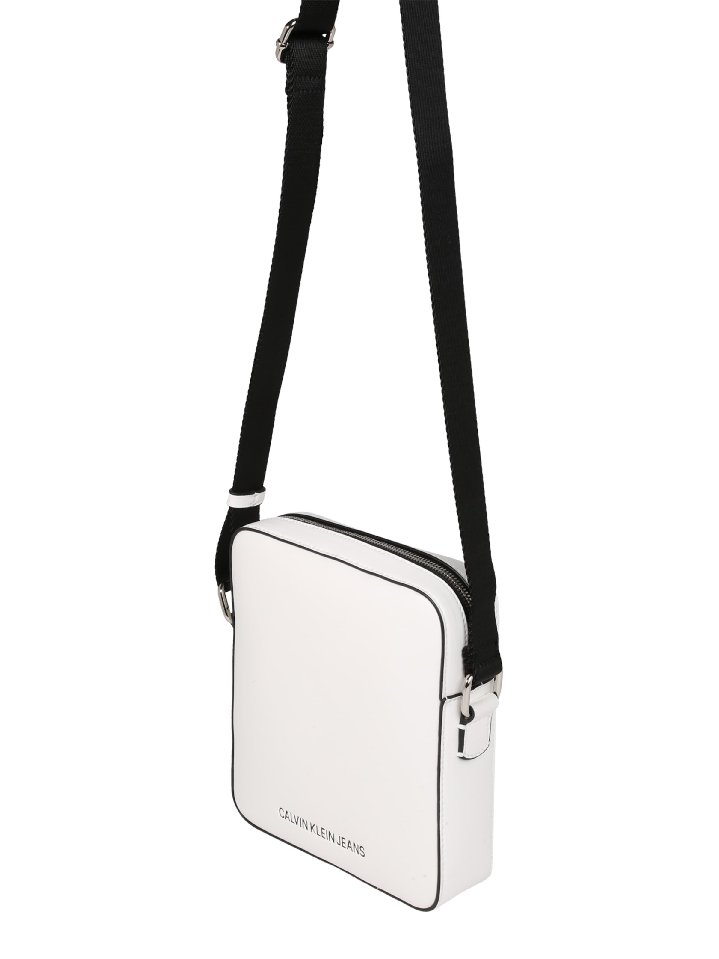 'micro Jeans ZwartWit Flat Pack' Calvin In Klein Schoudertas kOw8Pn0