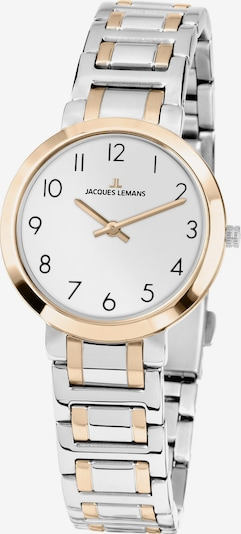 Jacques Lemans Uhr 'Milano' in gold / silber / weiß, Produktansicht