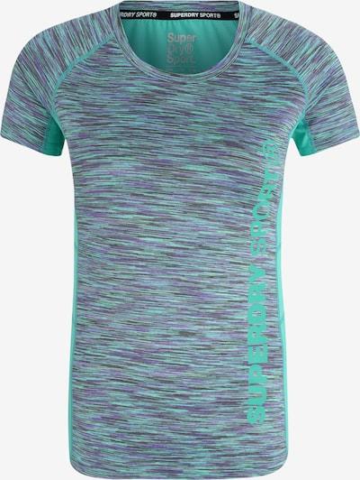 Superdry T-shirt fonctionnel en aqua / gris / violet, Vue avec produit