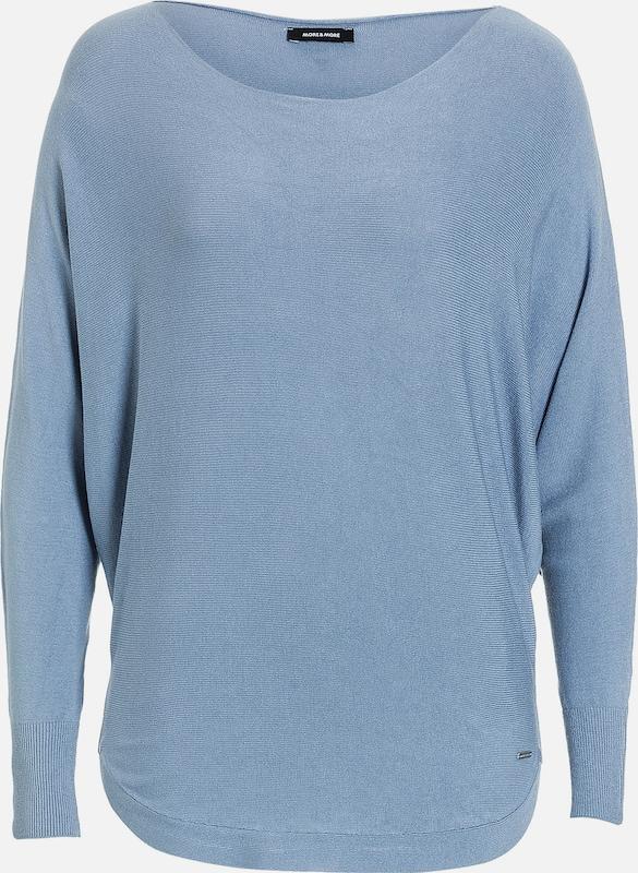 MORE & MORE Pullover, Fledermausärmel, grau