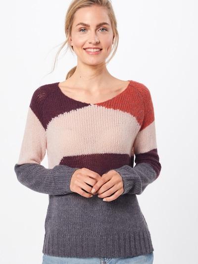 ICHI Džemperis 'ELEANOR' pieejami pelēks / rožkrāsas / bordo: Priekšējais skats