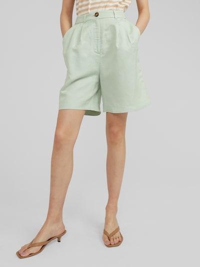 türkiz / zöld EDITED Élére vasalt nadrágok 'Joanie', Modell nézet