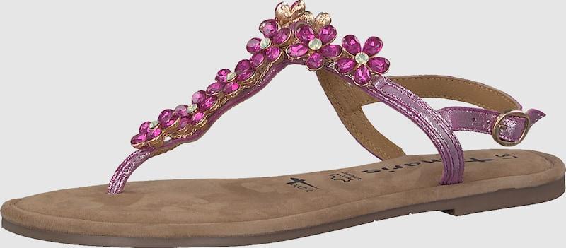 TAMARIS | Zehentrenner Sandale 'Glitter Flower'