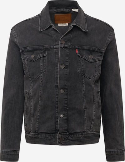 LEVI'S Overgangsjakke 'THE TRUCKER' i black denim, Produktvisning