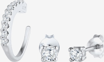 ELLI Ohrringe Single Earcuff, Kristall Ohrstecker in silber, Produktansicht