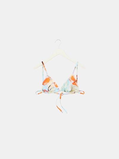 EDITED Bikinitop 'Sofie' in de kleur Lichtblauw / Lichtoranje, Productweergave