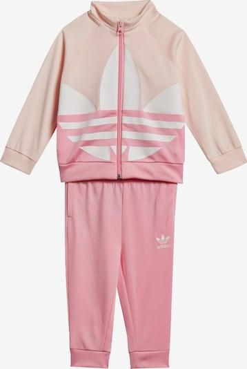 ADIDAS ORIGINALS Trainingsanzug 'Trefoil' in rosa / puder / weiß, Produktansicht