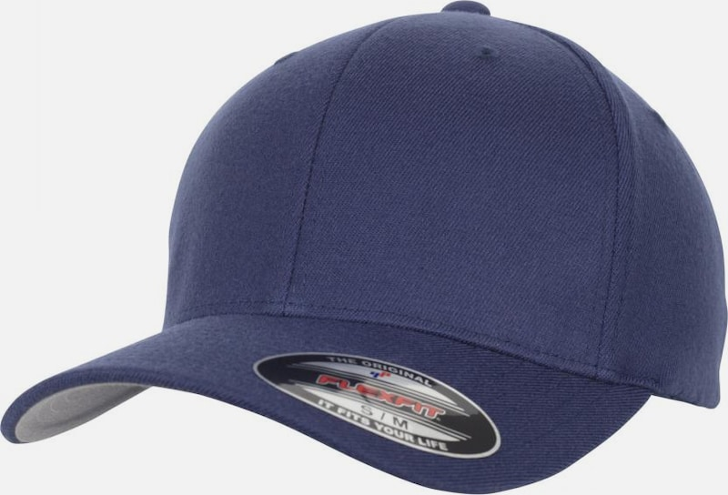Flexfit Cap 'Wool Blend' in navy, Produktansicht