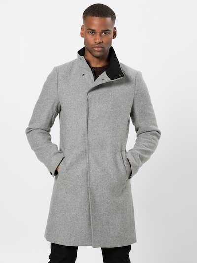 Only & Sons Mantel 'onsOSCAR WOOL COAT' in hellgrau, Modelansicht