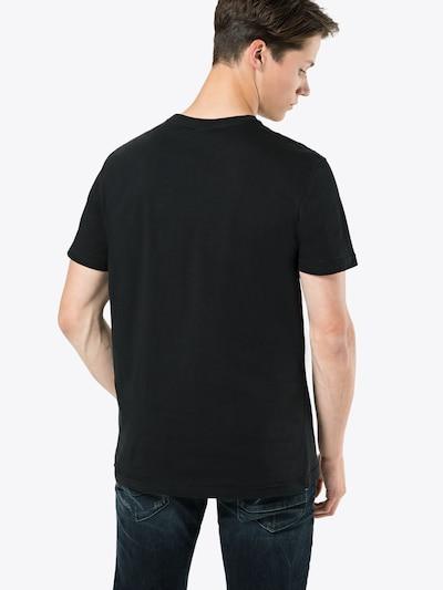 Iriedaily T-Shirt 'Chestflag Tee' in schwarz / weiß: Rückansicht