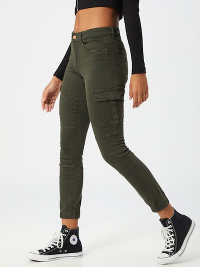 ONLY Cargo jeans 'Missouri' in Khaki, View model