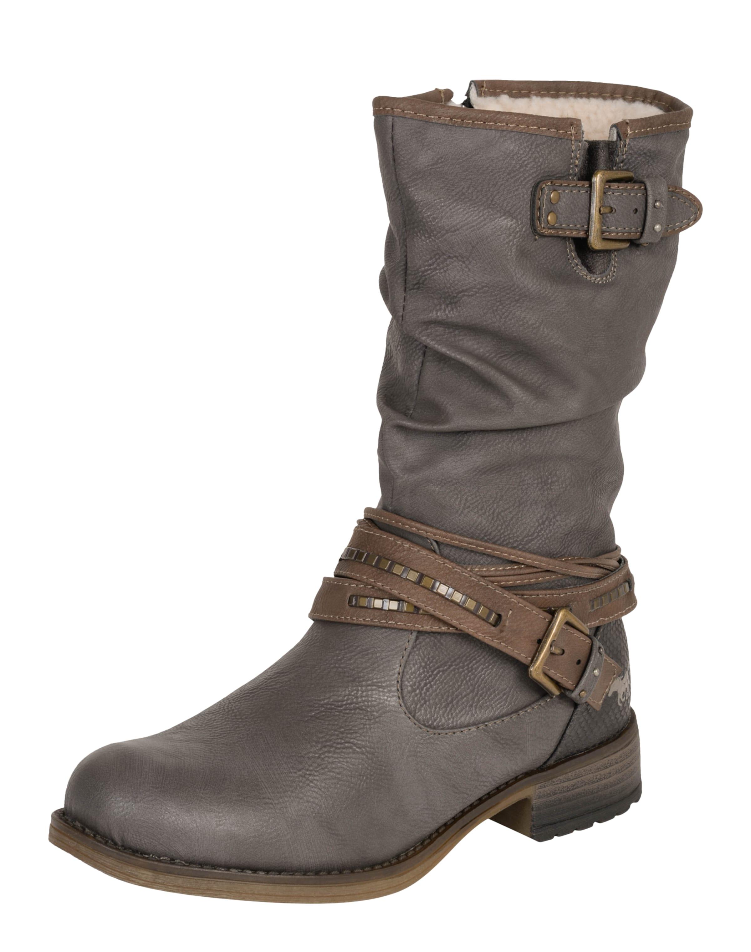 MUSTANG Stiefel mit Riemen Verschleißfeste billige Schuhe