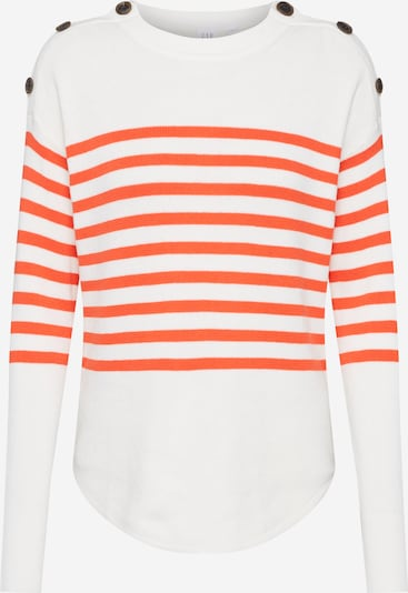 GAP Pullover in orange / offwhite, Produktansicht