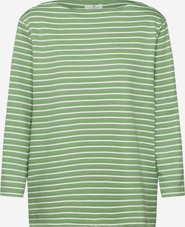 TOM TAILOR Sweatshirt in Green
