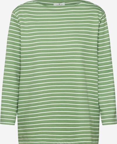 TOM TAILOR Sweatshirt in grün / weiß, Produktansicht