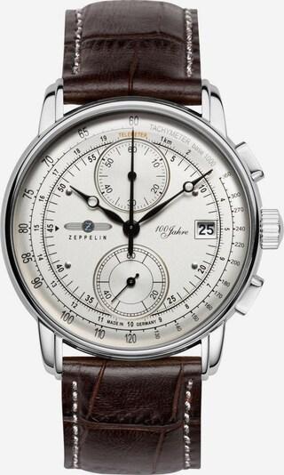 Zeppelin Uhr '100 Jahre' in kastanienbraun / silber, Produktansicht