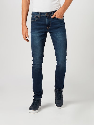 Pepe Jeans Kavbojke 'Finsbury' | moder denim barva, Prikaz modela