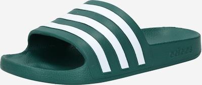 ADIDAS PERFORMANCE Claquettes / Tongs 'Adilette Aqua' en vert foncé / blanc, Vue avec produit