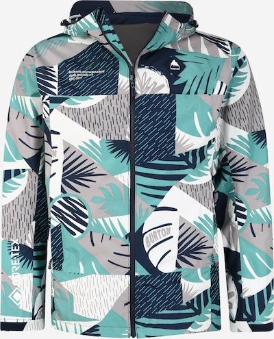 BURTON Outdoorová bunda - tyrkysová / tmavomodrá / sivá / biela, Produkt