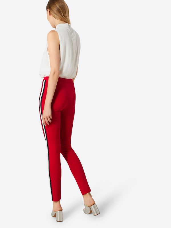 En Rouge CeriseNoir Pantalon Blanc Oui m8OvwNn0