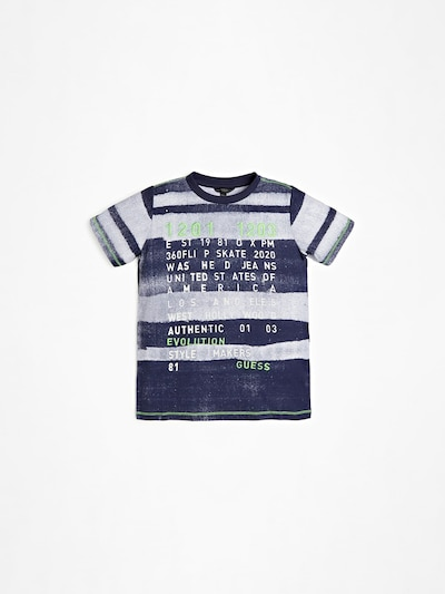 GUESS KIDS T-SHIRT in blau / weiß, Produktansicht