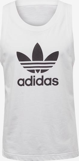 ADIDAS ORIGINALS Majica 'Trefoul' | črna / bela barva, Prikaz izdelka
