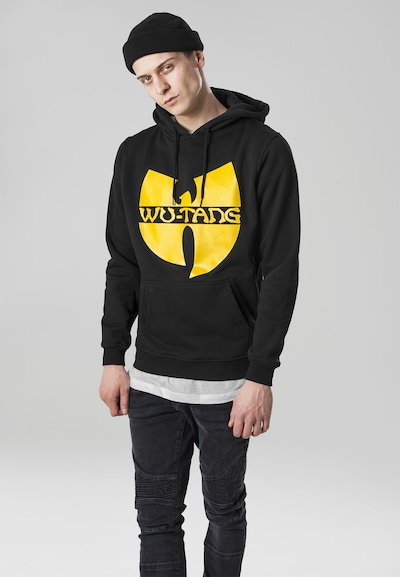 Mister Tee Hoody 'Wu-Wear' in gelb / schwarz: Frontalansicht