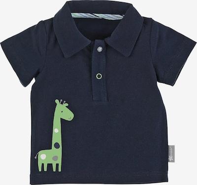 STERNTALER Poloshirt 'Giraffe' in marine / rauchblau / hellgrün / weiß, Produktansicht