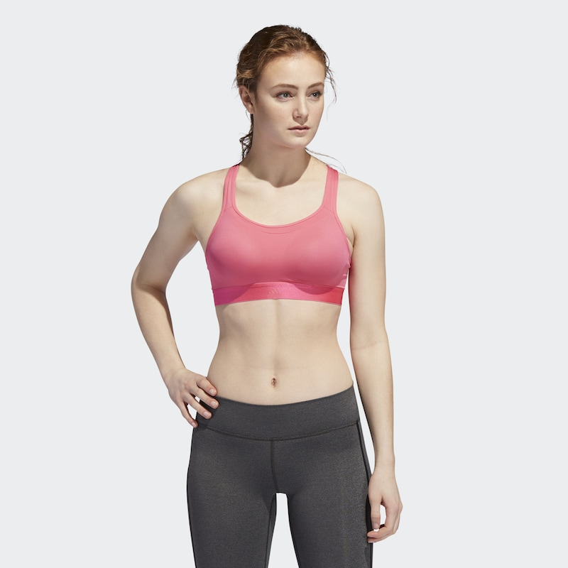 ADIDAS PERFORMANCE Racer Bra 'Stronger For It' in pink: Frontalansicht