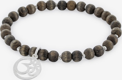 YOGISTAR.COM Armband in braun / silber, Produktansicht