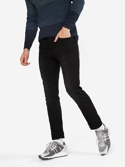 Only & Sons Jeans 'LOOM BLACK JOG 7451 PK NOOS' in black denim, Modelansicht