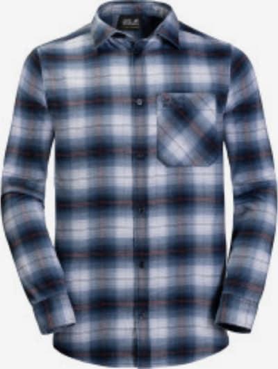 JACK WOLFSKIN Hemd 'Light Valley' in blau / weiß, Produktansicht