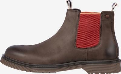 JACK & JONES Chelsea boots in de kleur Bruin gemêleerd / Rood, Productweergave