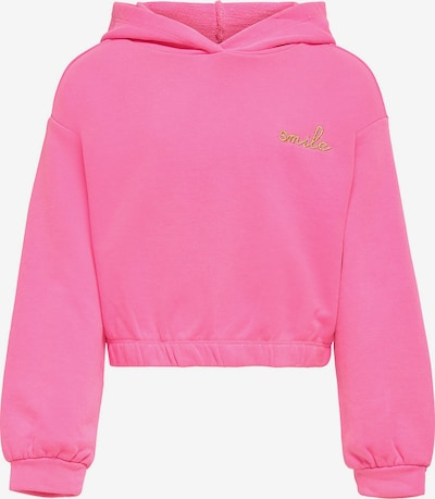KIDS ONLY Sweatshirt 'Konnea' in goldgelb / pink, Produktansicht