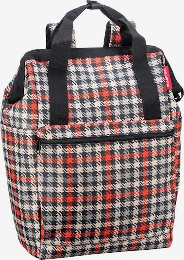 REISENTHEL Rucksack in rot / schwarz / weiß, Produktansicht