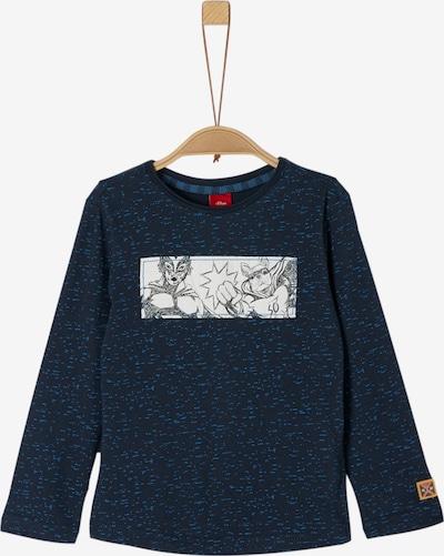 s.Oliver Shirt in blau / navy / weiß, Produktansicht