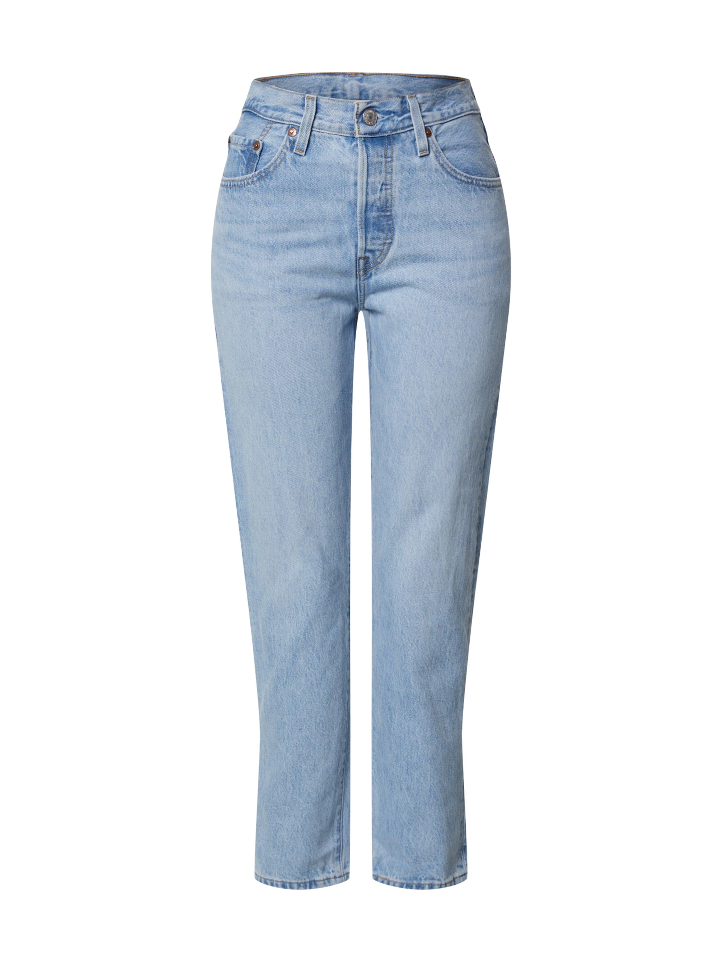 LEVI'S Jeans '501® CROP' i blå denim