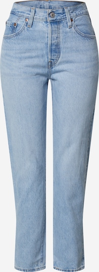 LEVI'S Jeans '501® CROP' in blue denim: Frontalansicht