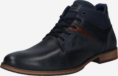 BULLBOXER Šněrovací boty - černá: Pohled zepředu
