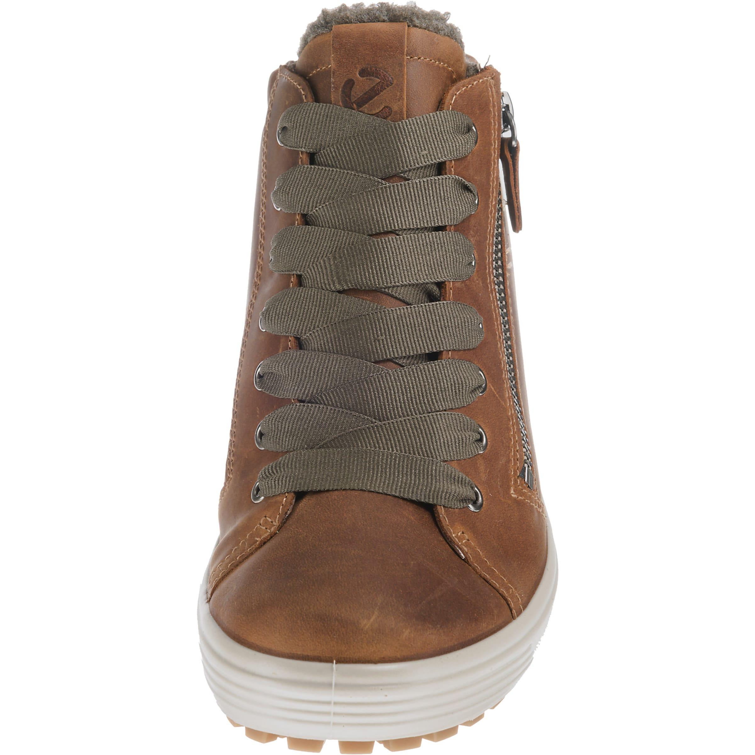 ECCO Sneakers hoog Soft 46 in Bruin Leer 254-30-00491_36