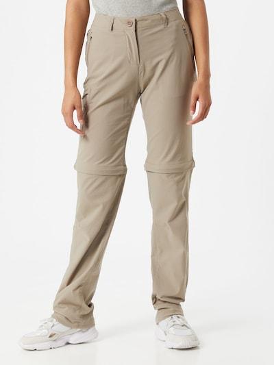 CRAGHOPPERS Pantalon outdoor en beige, Vue avec modèle