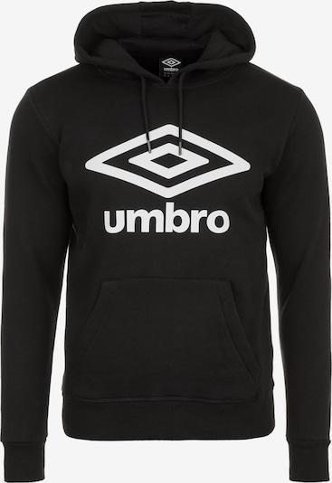 UMBRO Hoodie in schwarz / weiß, Produktansicht