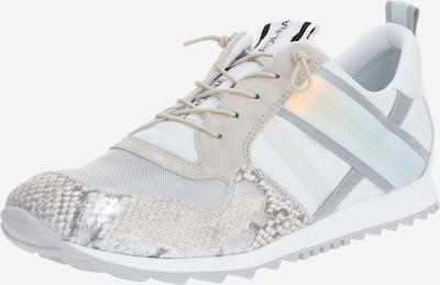 Donna Carolina Sneakers laag in de kleur Beige / Lichtgrijs / Zilver / Wit, Productweergave