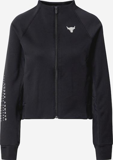 Bluză cu fermoar sport 'UA Project Rock FZ' UNDER ARMOUR pe negru / alb, Vizualizare produs