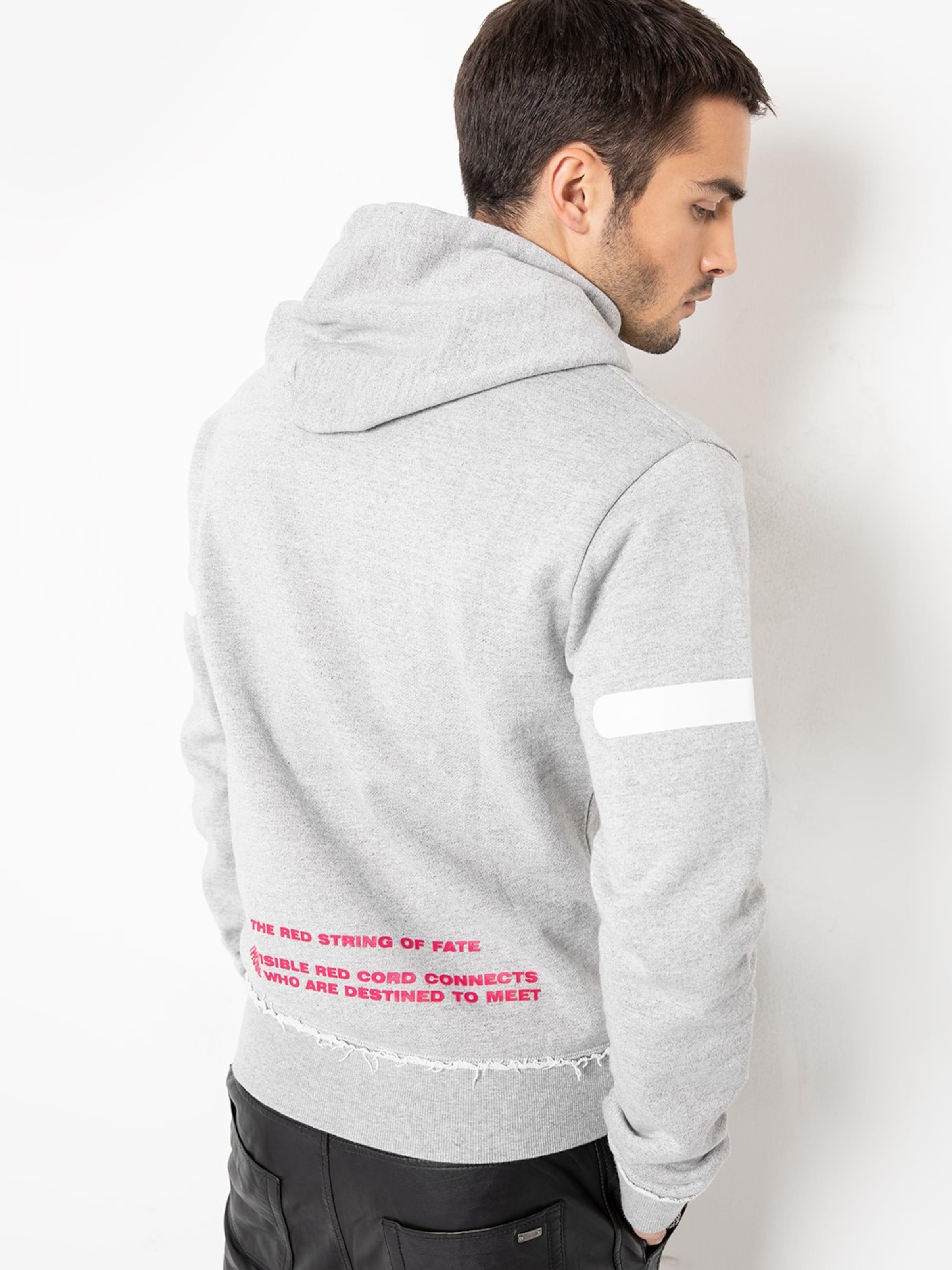 Blanc Tigha En Sweat GrisRouge shirt 'akio' rdtsChQx