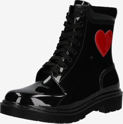 Ghete cu șireturi 'RAIN LOVE' Love Moschino pe negru, Vizualizare produs